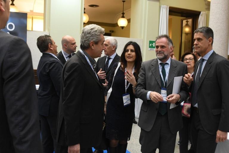 La Senatrice Daniela Sbrollini con il Senatore Massimo Garavaglia e Franco Confalonieri (EAA)