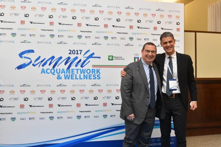 Giuseppe Castagna (AD Banco BPM) con Maurizio Felugo - Niccolò Campriani e Stefano Dealessi