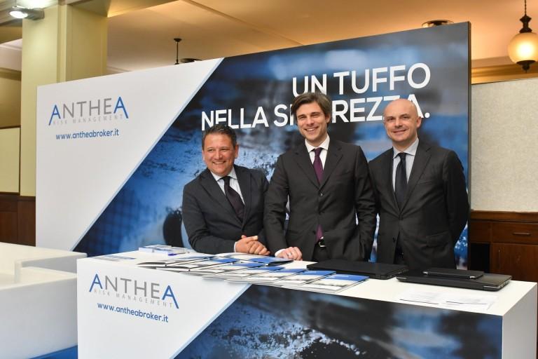 Flavio Marelli (AD Anthea) con Davide Martinello e Marco Bonora @ Spazio Anthea